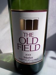 The Old Field 2001 Merlot